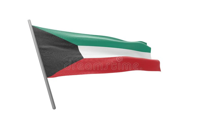 科威特的旗子 皇族释放例证