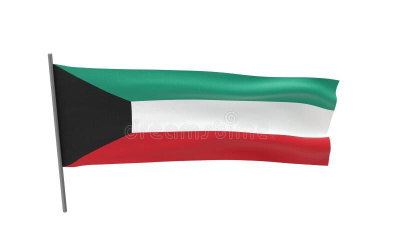科威特的旗子 向量例证