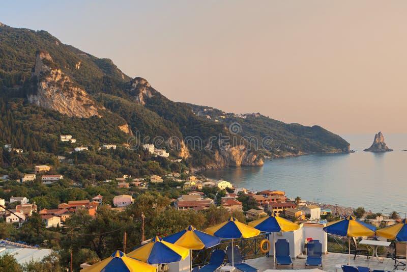 科孚岛海岛在希腊 免版税图库摄影