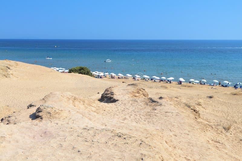 科孚岛海岛在希腊 免版税库存照片