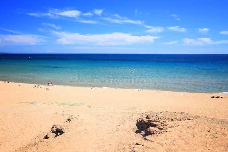科孚岛海岛海滩 库存图片