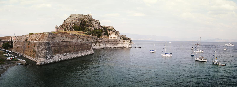 科孚岛老堡垒  免版税库存图片