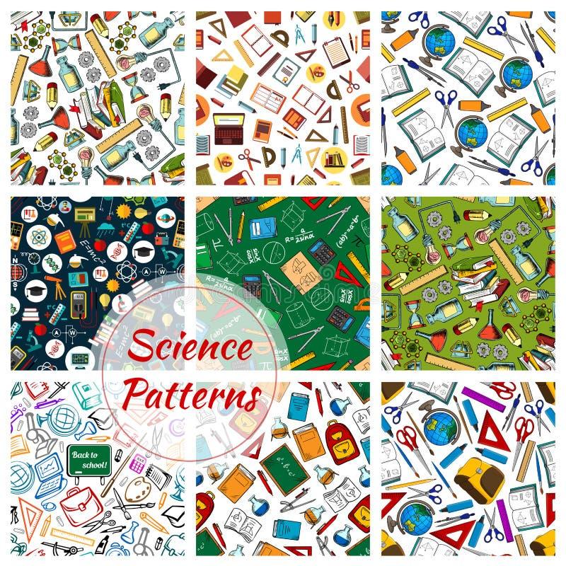科学、研究和教育无缝的样式 向量例证