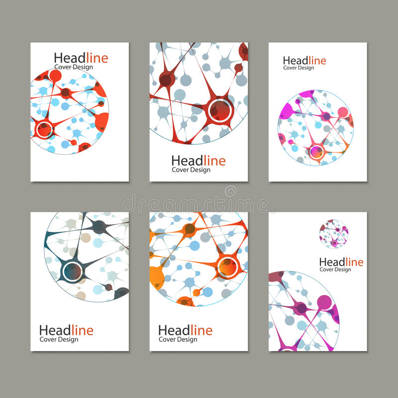 科学传染媒介背景 小册子、飞行物、盖子杂志或者报告的现代传染媒介模板在A4大小 向量例证