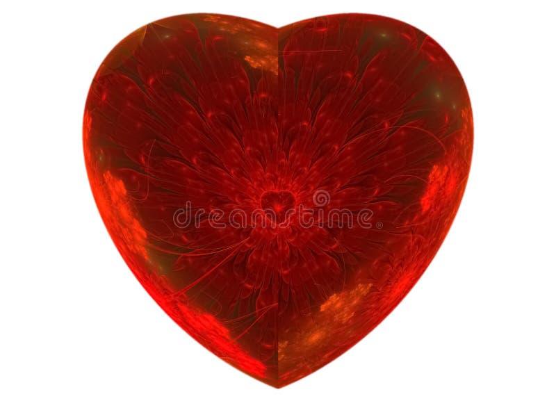 科学分数维抽象圈子花的心脏 库存例证