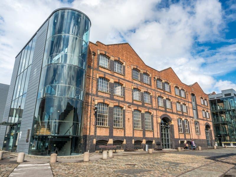 科学和产业博物馆在曼彻斯特 库存照片