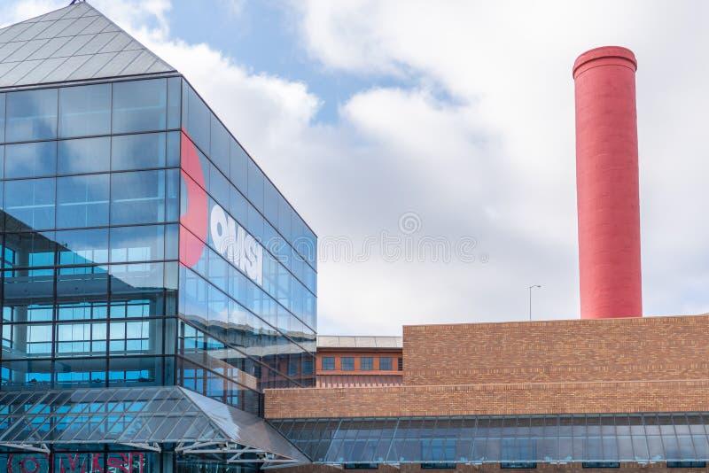 科学和产业OMSI大厦俄勒冈博物馆  库存图片
