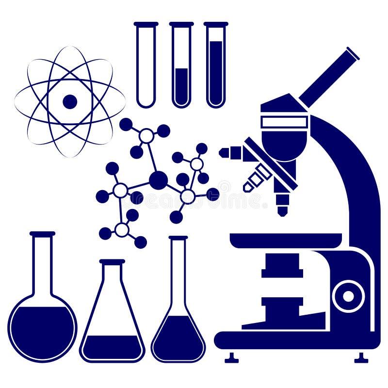 科学和化学象被设置的传染媒介 向量例证