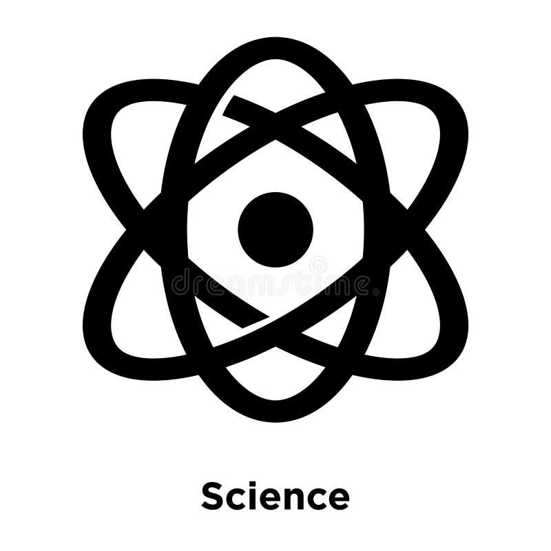 科学在白色背景隔绝的象传染媒介,商标概念o 皇族释放例证