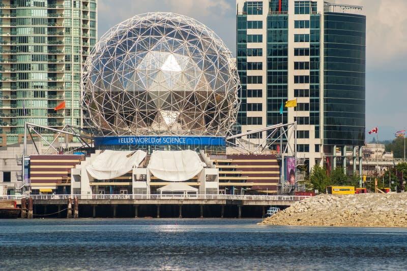 科学大厦,温哥华Telus世界  免版税图库摄影