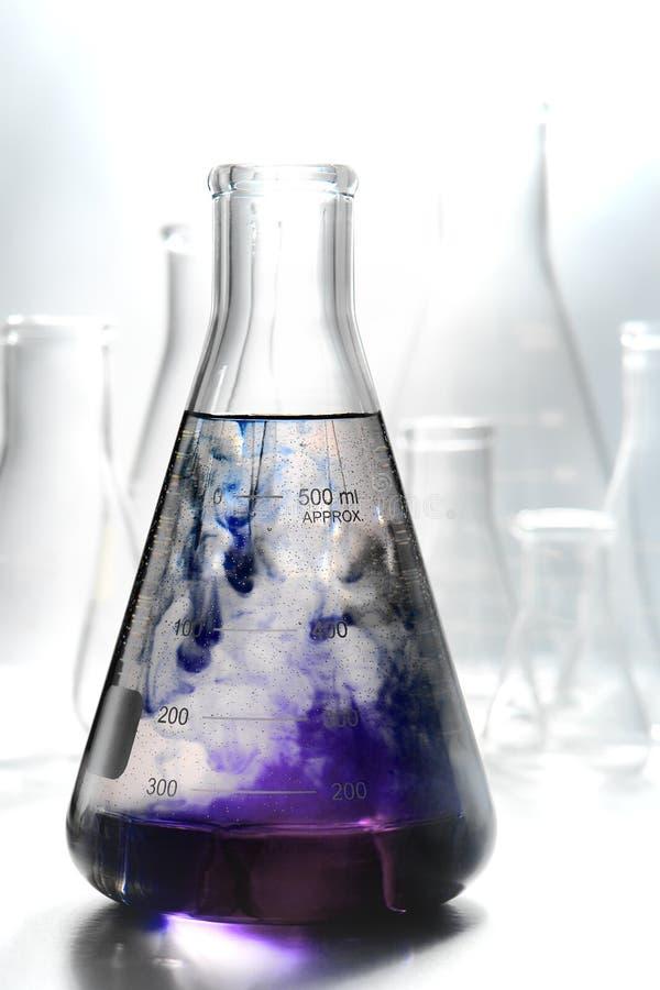 科学实验在科学研究实验室 库存图片