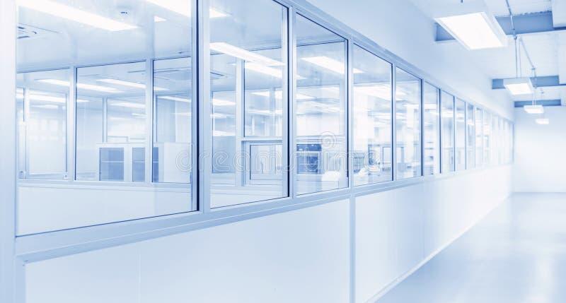科学实验室或产业工厂现代内部  库存图片