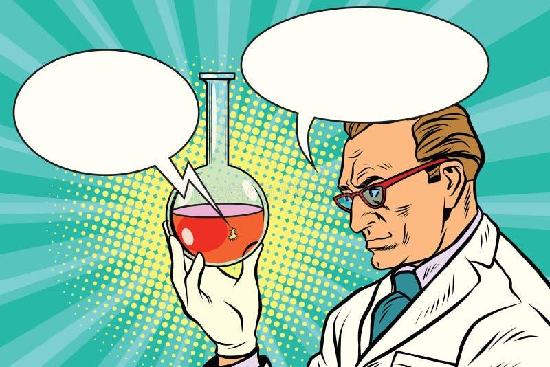 科学家化学家谈论分析 向量例证