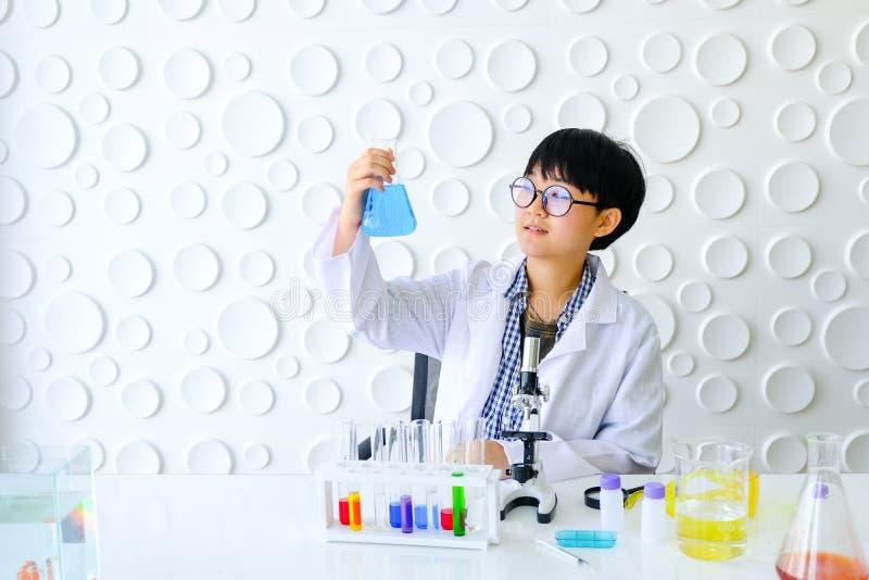 科学家在实验室工作 新女性研究员 免版税库存照片