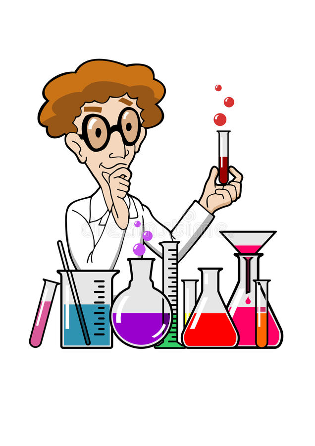 科学家在实验室 向量例证