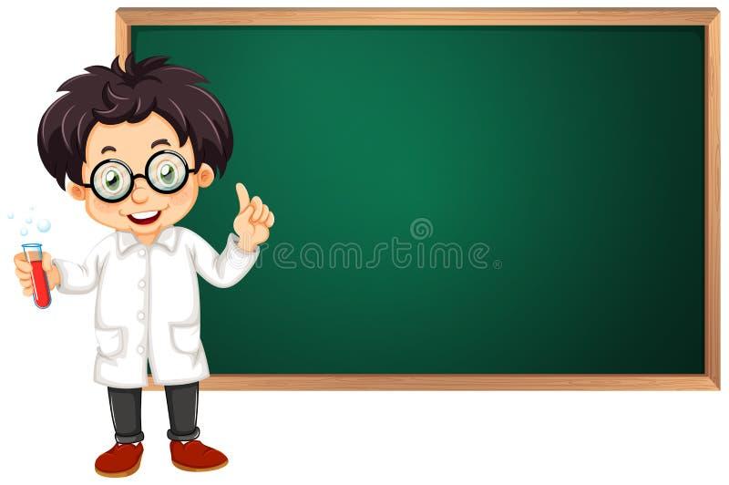 科学家在教室 向量例证
