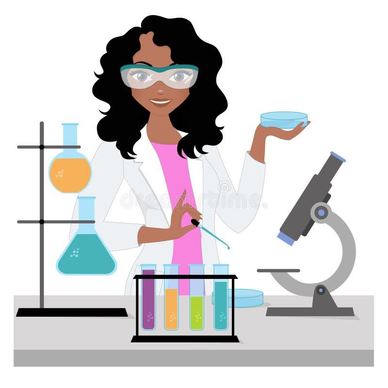 科学家妇女 库存例证