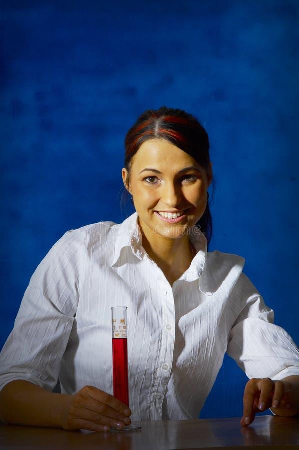 科学家年轻人 免版税库存照片