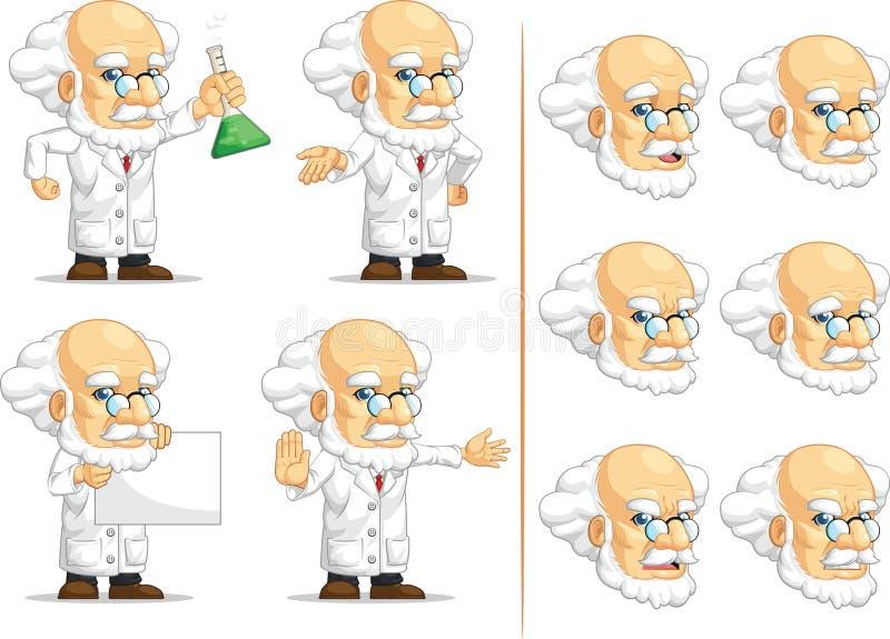 科学家或Customizable Mascot 10教授 库存例证