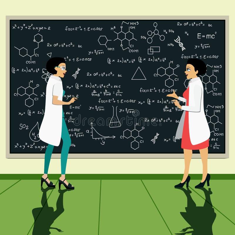 科学家 向量例证