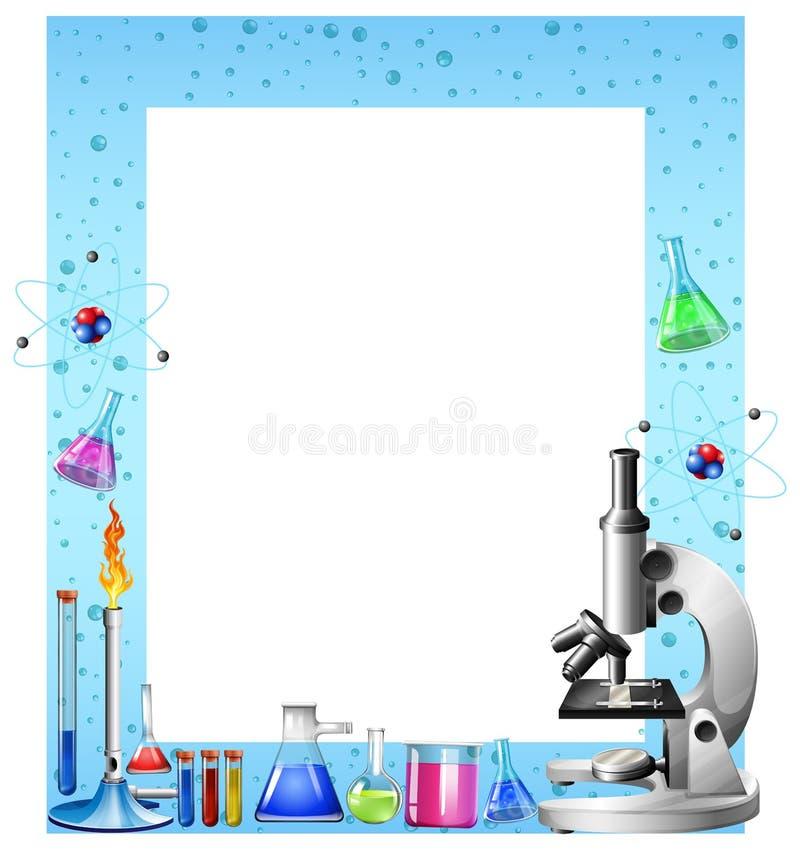 科学工具和容器 库存例证