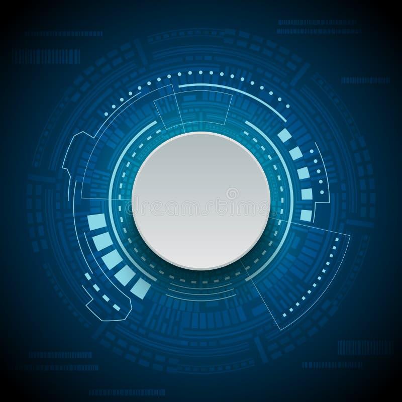 科学幻想小说未来派用户界面 数字HUD 向量例证