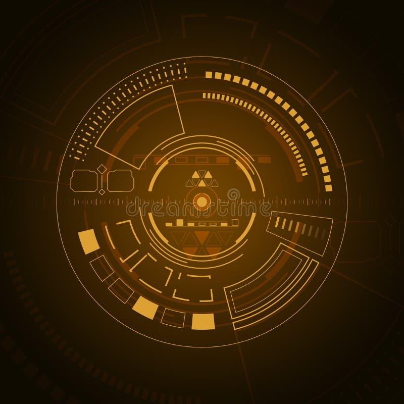 科学幻想小说未来派用户界面 数字HUD 皇族释放例证