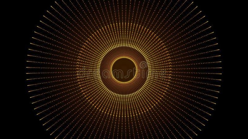 科学幻想小说隧道背景纹理 抽象背景纹理移动 未来派幻想技术的动画 空间 库存例证