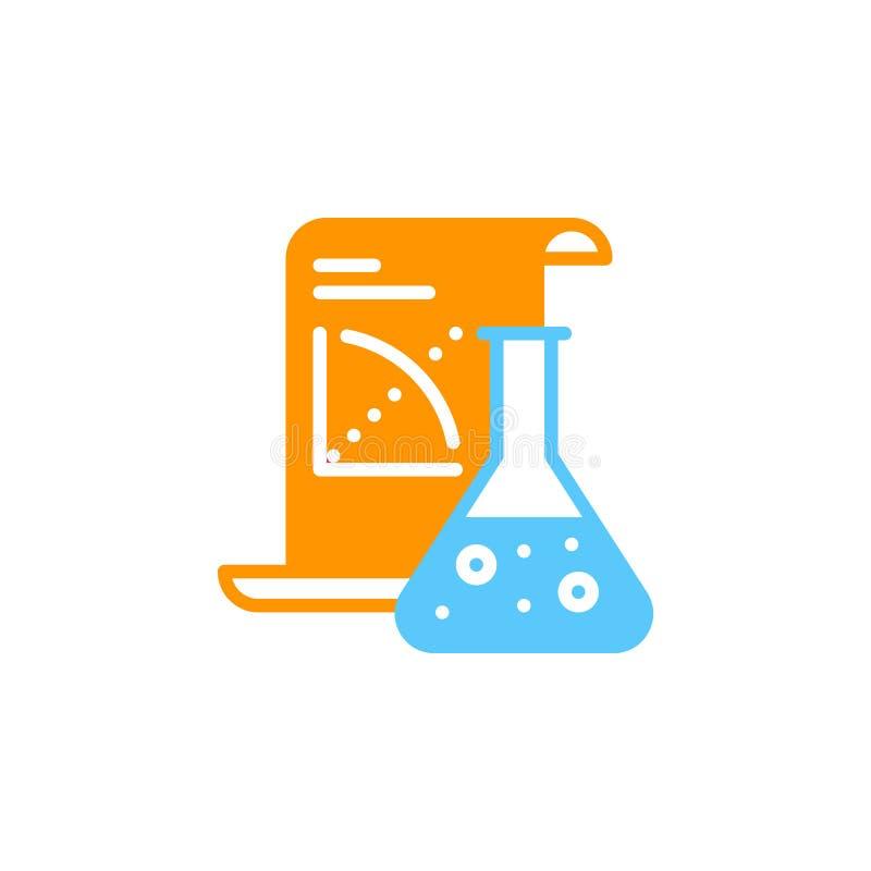 科学应用象传染媒介,被填装的平的标志,在白色隔绝的坚实五颜六色的图表 皇族释放例证