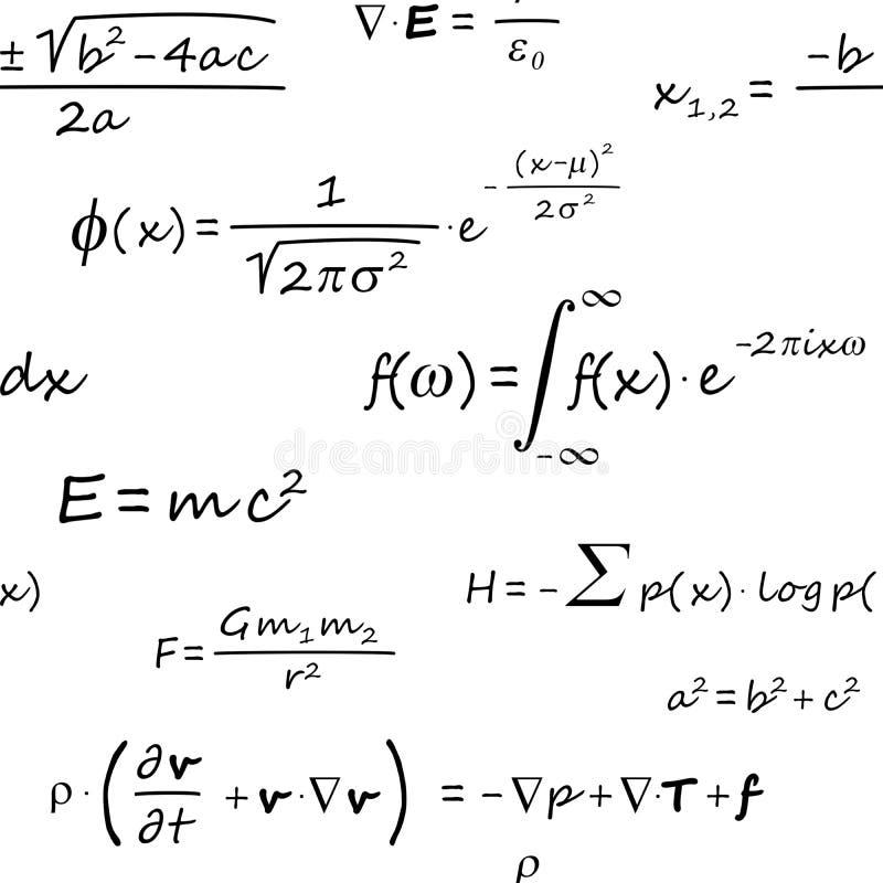 科学惯例无缝的样式 向量例证