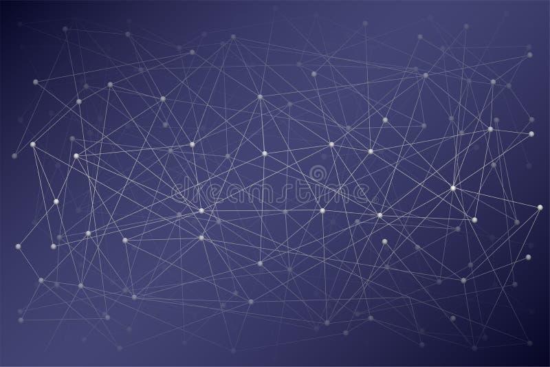 科学或Blockchain数字式背景  皇族释放例证
