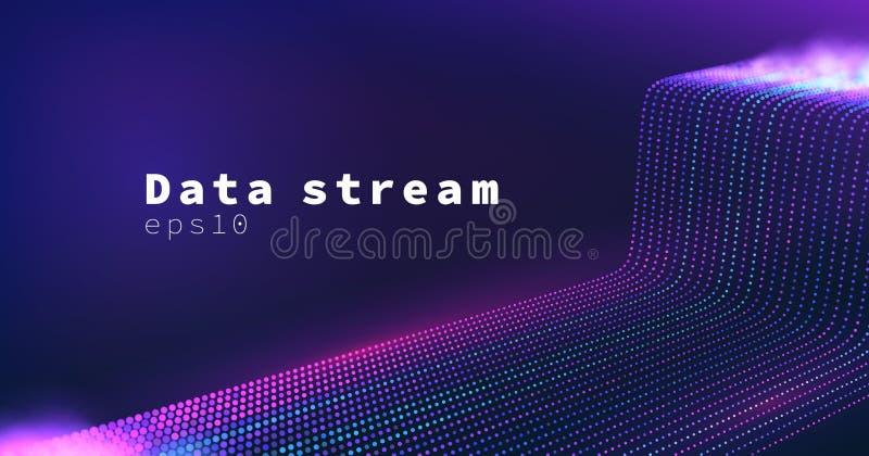 科学技术传染媒介背景 数据流 Datacenter宽网络 向量例证
