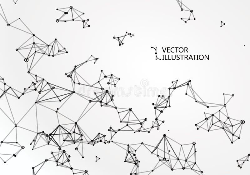 科学技术图形设计抽象感觉  库存例证