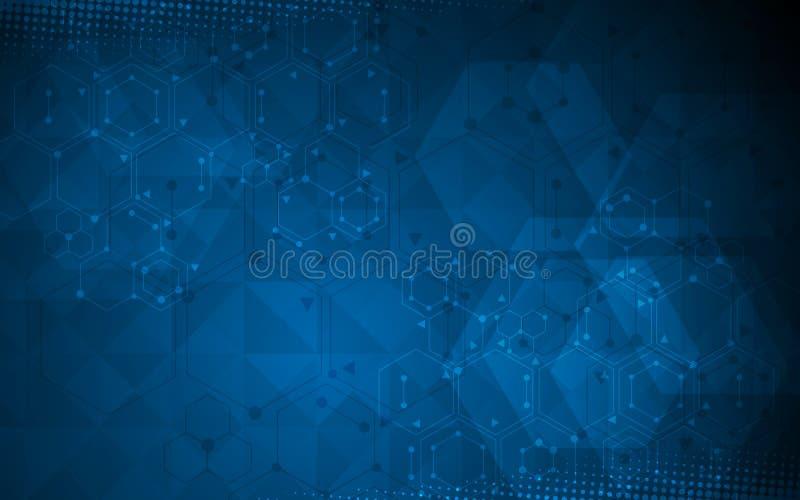 科学技术概念多角形设计背景
