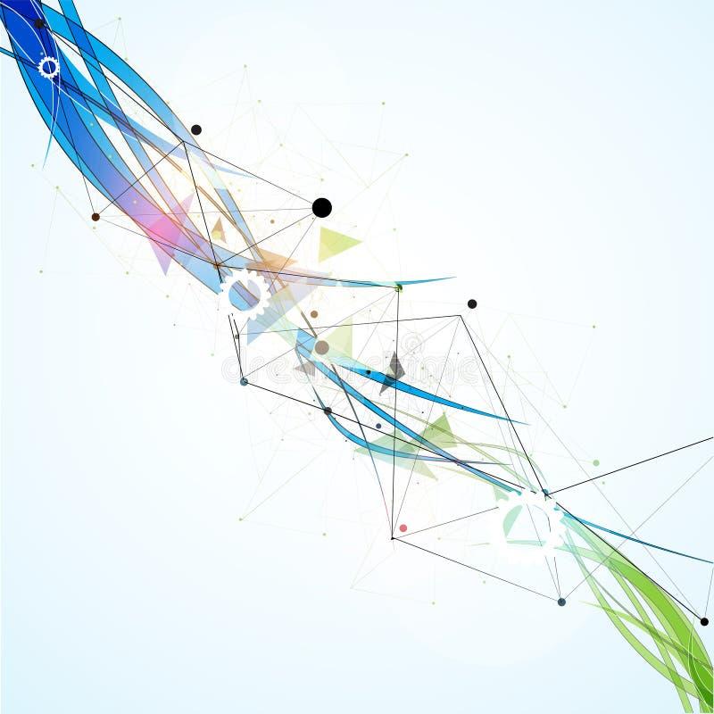科学未来派互联网高计算机科技事务 免版税库存图片