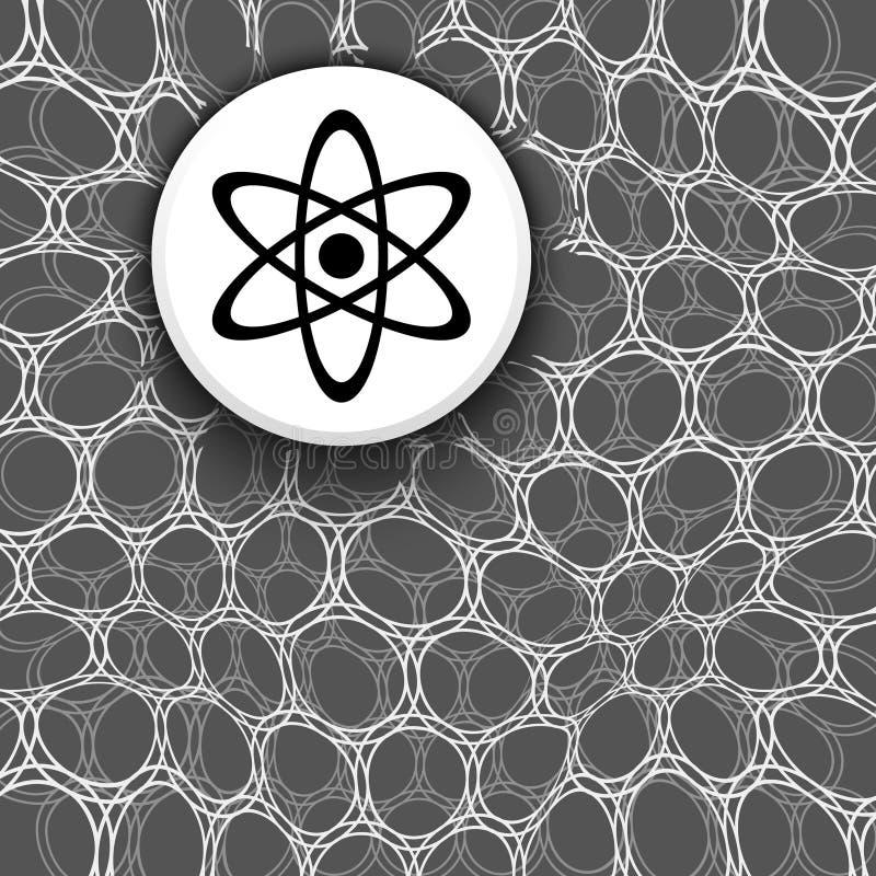与样式和科学标志的黑白背景