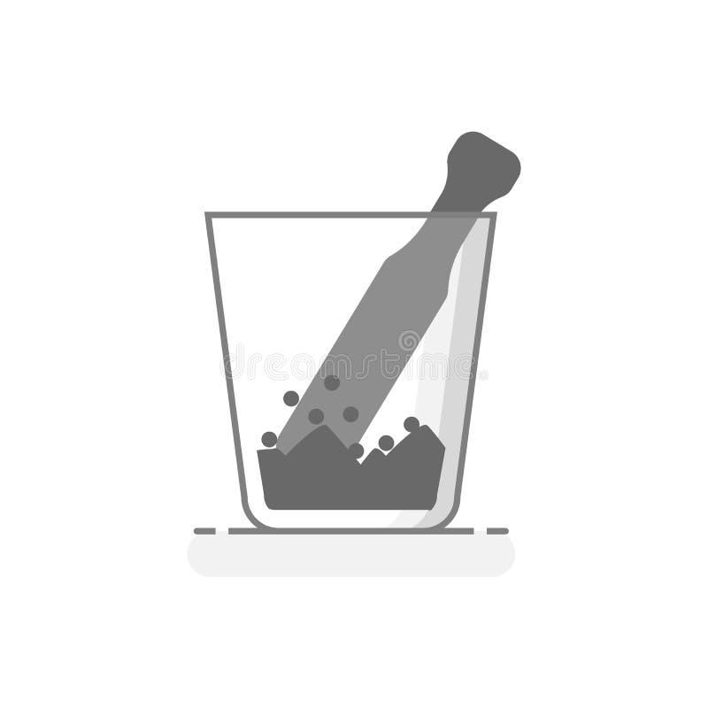 科学玻璃灰浆-实验室玻璃器皿用工具加工象 库存照片