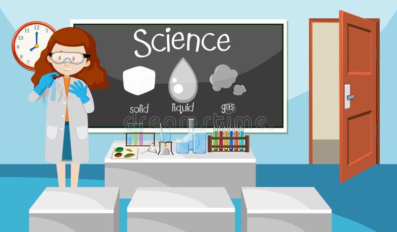 科学类的老师 向量例证