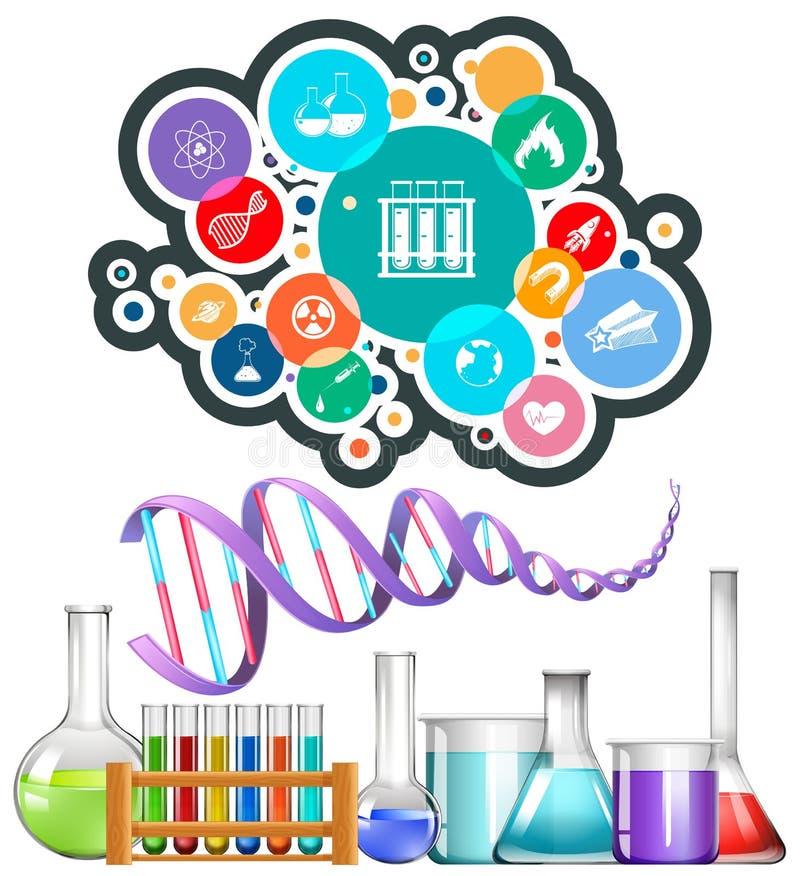 科学设备和象 向量例证