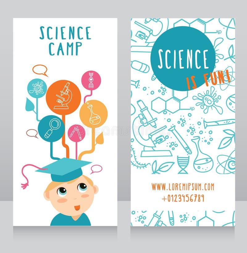 科学阵营的卡片 库存例证
