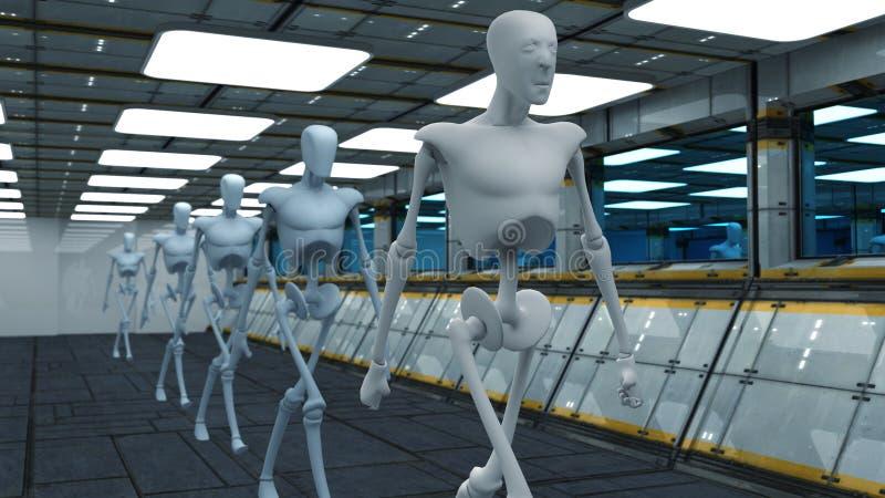 科学幻想小说机器人 库存例证