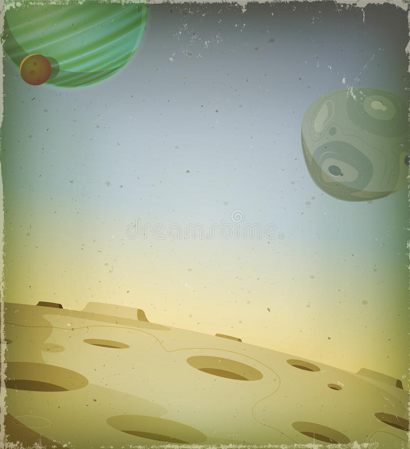 科学幻想小说难看的东西外籍人行星背景 皇族释放例证