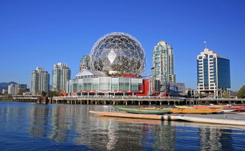 科学Telus世界在温哥华,不列颠哥伦比亚省 免版税库存图片