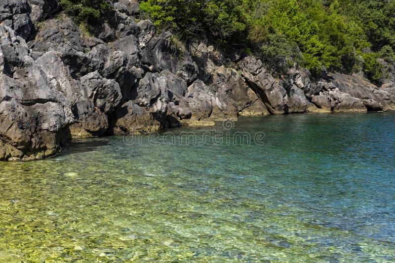 科尔丘拉岛,达尔马提亚克罗地亚 免版税图库摄影