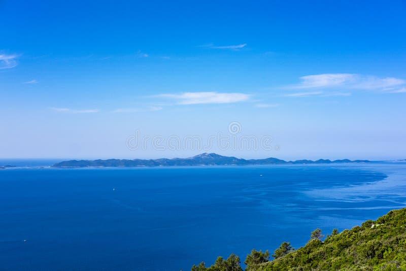 科尔丘拉岛,达尔马提亚克罗地亚 免版税库存图片