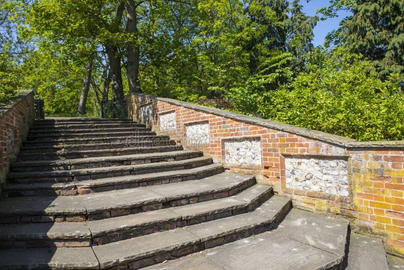 科尔切斯特城堡公园在艾塞克斯 免版税库存图片