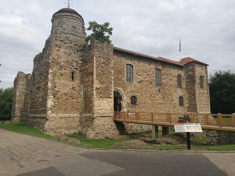 科尔切斯特城堡艾塞克斯英国 免版税库存照片
