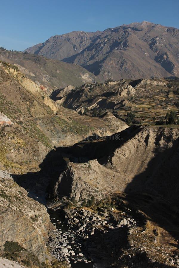 科尔卡峡谷的看法 库存图片
