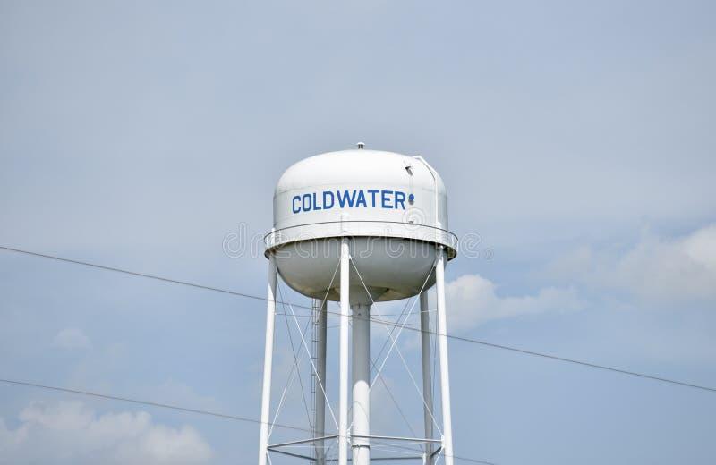 科尔德沃特密西西比水塔 免版税库存图片