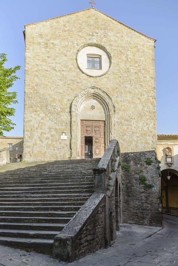 科尔托纳,阿雷佐,托斯卡纳意大利,欧洲,教会圣弗朗西斯 图库摄影
